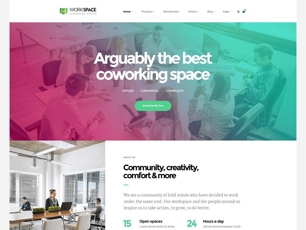 Best WordPress template Workspace