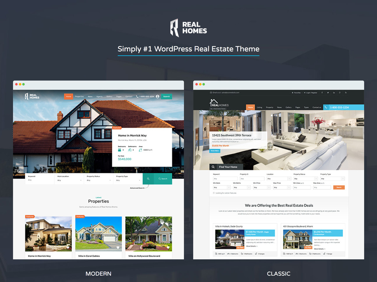 Best WordPress theme RealHomes Child Theme