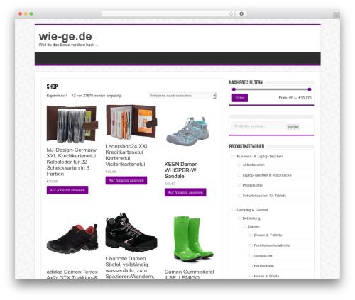 Best WordPress theme Sahifa - wie-ge.de