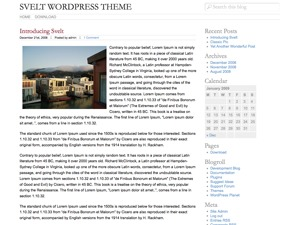 Best WordPress theme Svelt