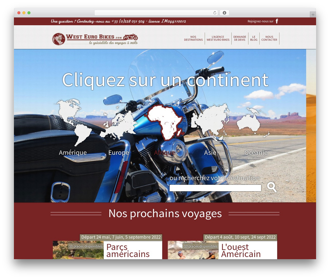 Best WordPress theme West Euro Bikes - westeurobikes.com