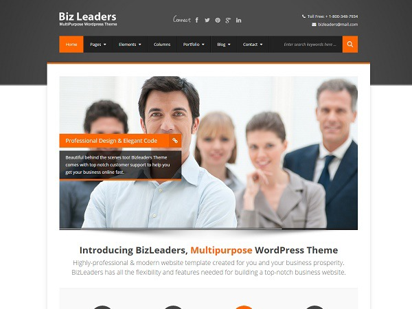 BizLeaders template WordPress