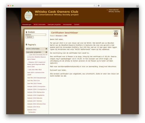 Blend WordPress theme - wcoc.nl