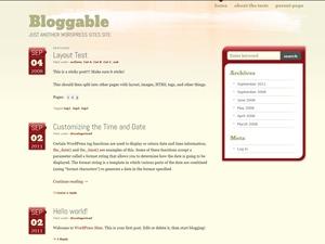 Bloggable WordPress blog template