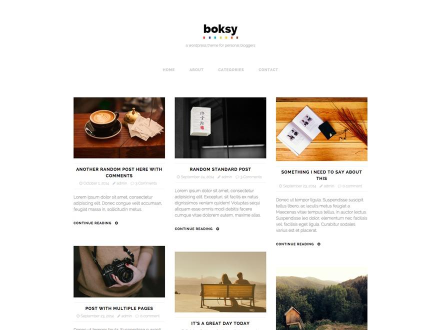 Boksy Lite WordPress blog theme