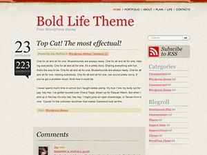 Bold Life WordPress blog theme