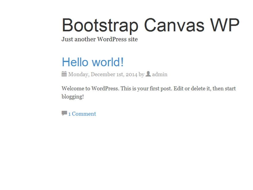 Bootstrap Canvas WP best free WordPress theme