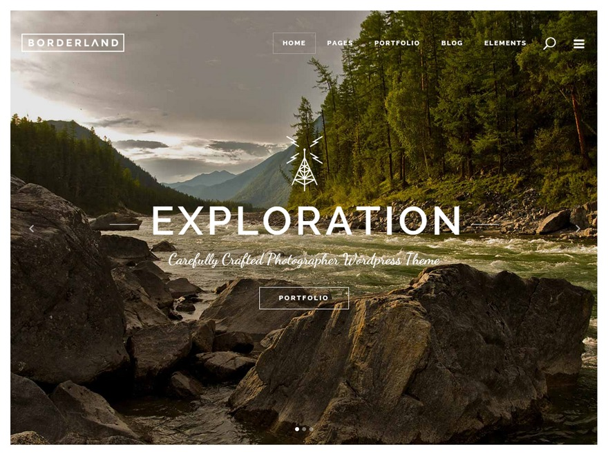 Borderland top WordPress theme