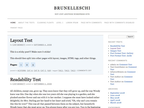 Brunelleschi best WordPress template