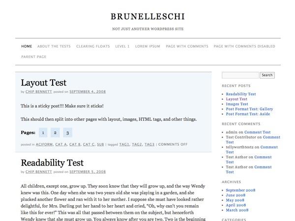 Brunelleschi best WordPress template