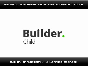 Builder Child template WordPress