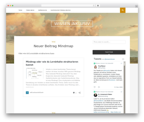 Bulan free WordPress theme - wisseninklusiv.de