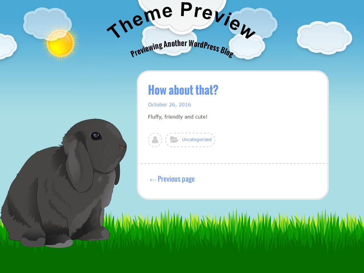 Bunny free WordPress theme