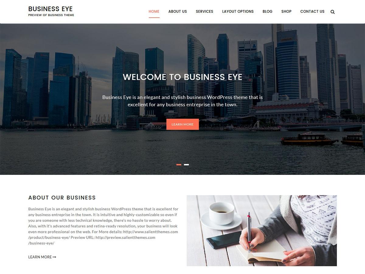 Business Eye template WordPress free