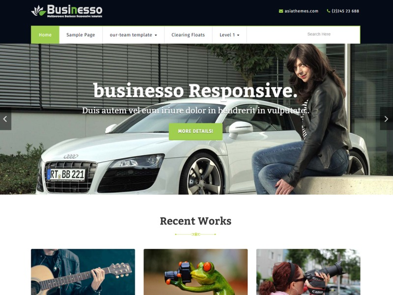 businesso business WordPress theme