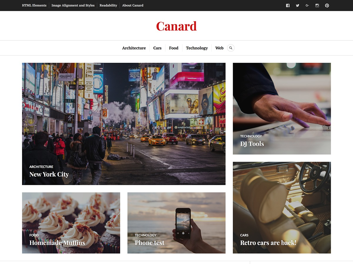 Canard WordPress photo theme