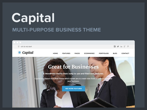 Capital WordPress template for business
