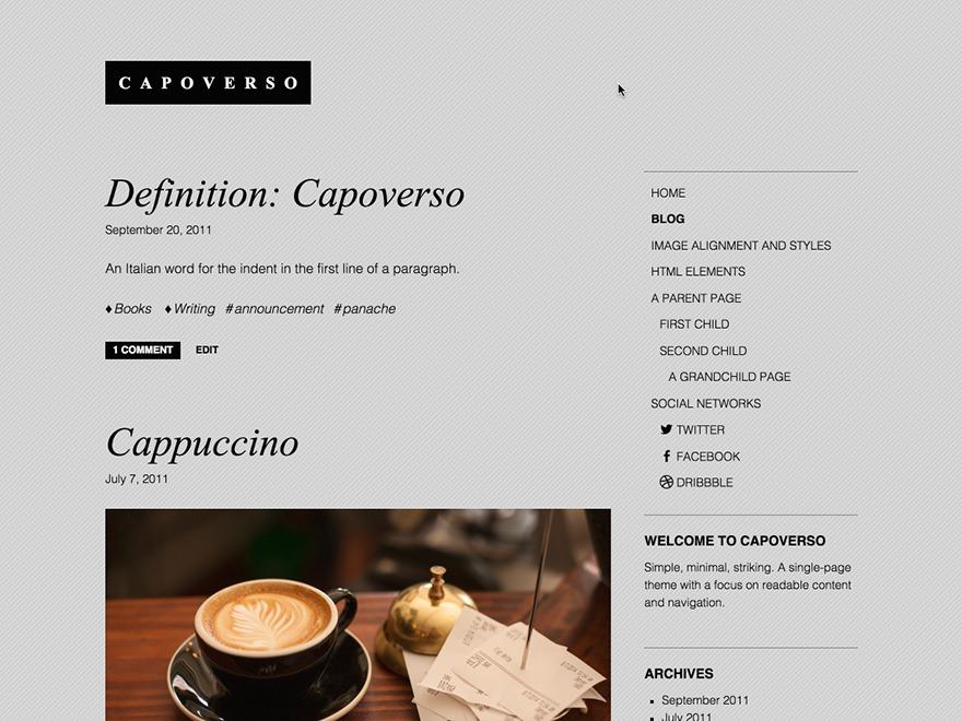 Capoverso WordPress template free download