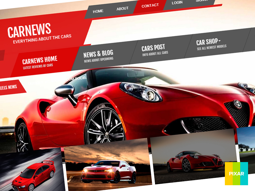 CAR NEWS WordPress ecommerce template