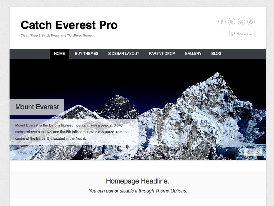 Catch Everest Pro best WordPress template