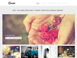 Cesar photography WordPress theme