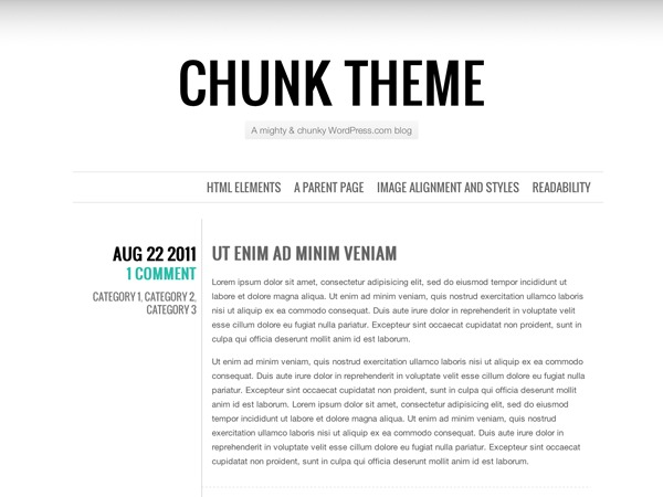 Chunk theme WordPress
