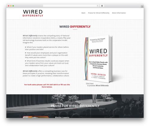 Citrus business WordPress theme - wireddifferently.coop