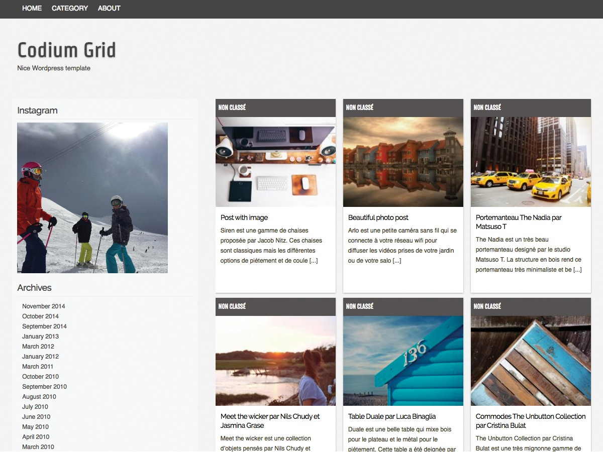 Codium Grid free WordPress theme