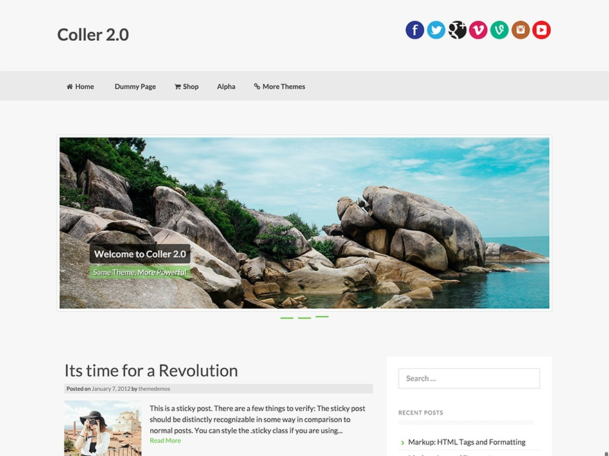 Coller WordPress theme download