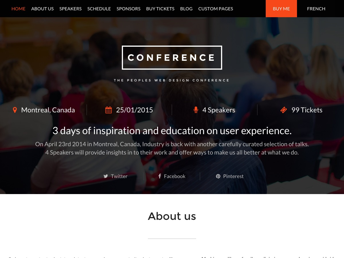 Conference WPL theme WordPress