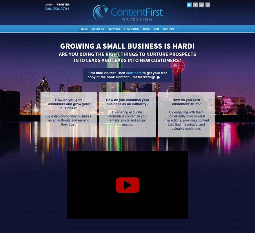 Contentfirst Marketing WordPress blog theme