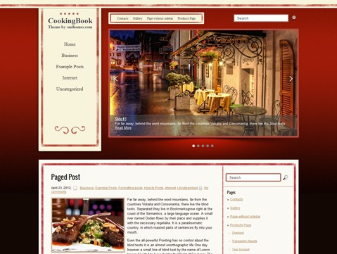 CookingBook top WordPress theme