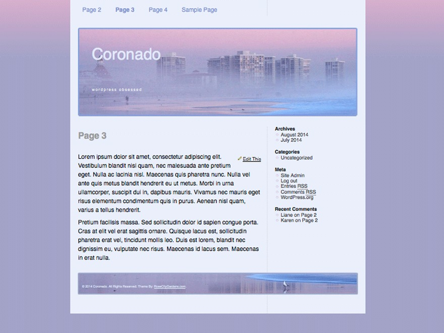Coronado theme WordPress