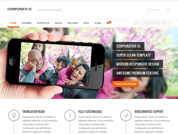 Corporative WP template