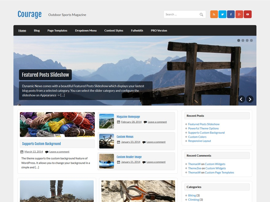 Courage WordPress theme download