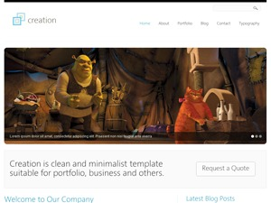 Creation WordPress template for business