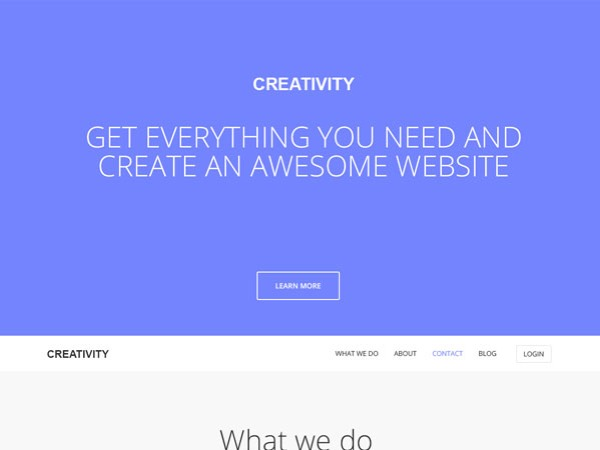 Creativity WordPress blog theme