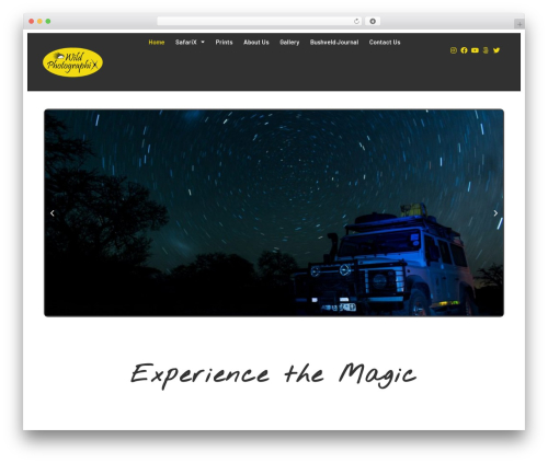 Customizr free WordPress theme - wildphotographix.com