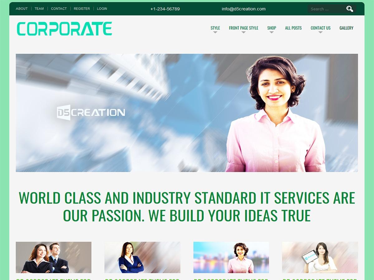 D5 CORPORATE LITE template WordPress free