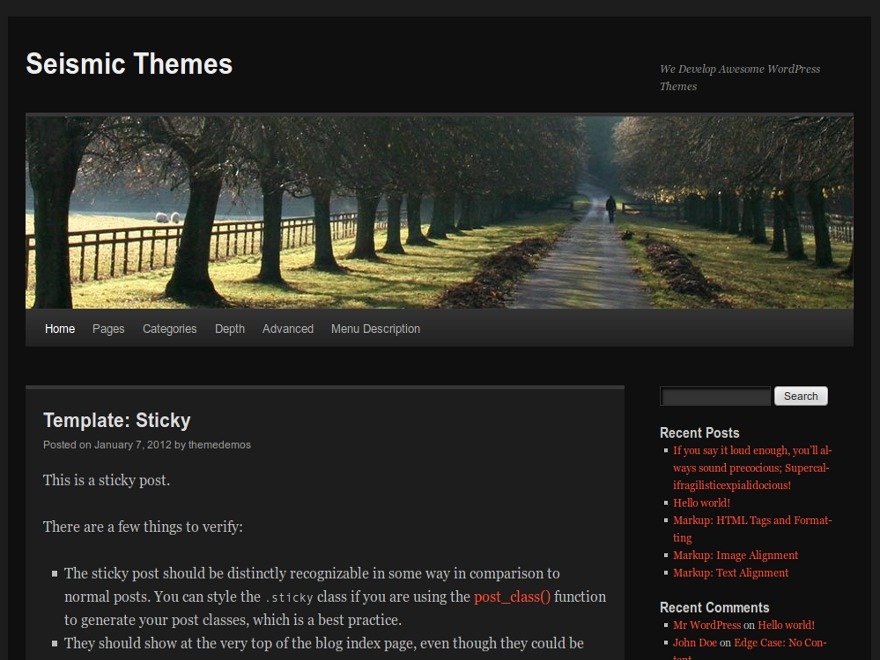 Dark TT best WordPress theme