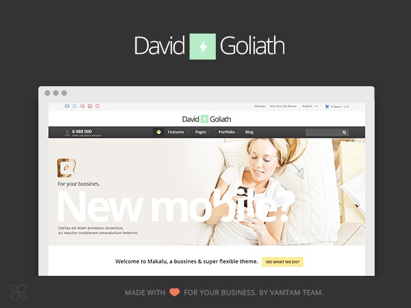 David & Goliath theme WordPress