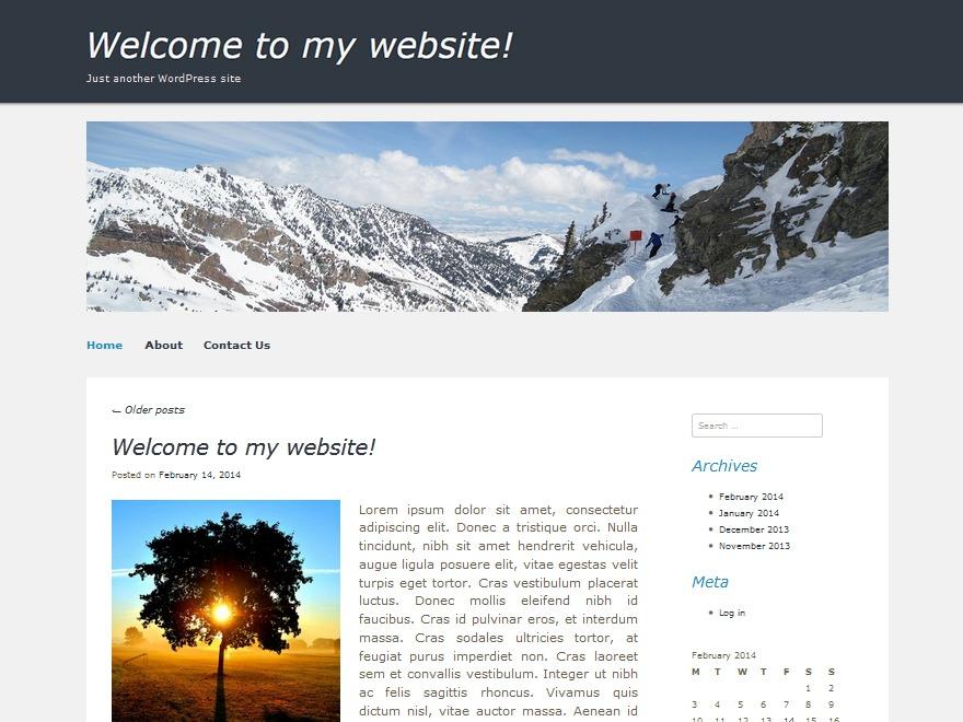 Decemberable newspaper WordPress theme