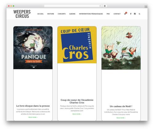 Decibel WordPress theme design - weeperscircus.com
