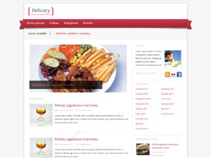 Delicacy WordPress blog theme