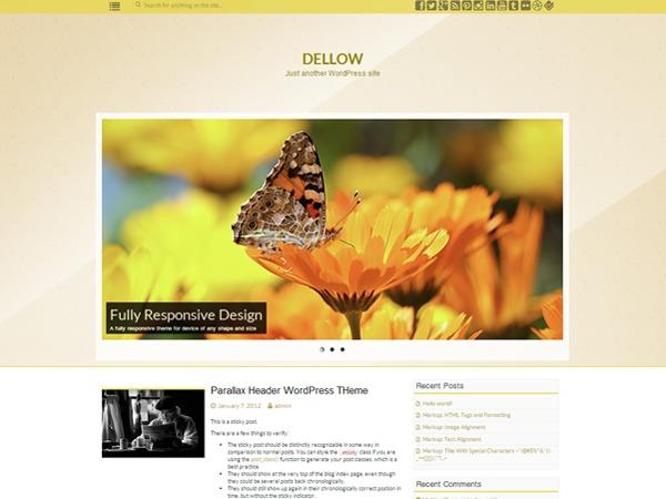 Dellow best free WordPress theme