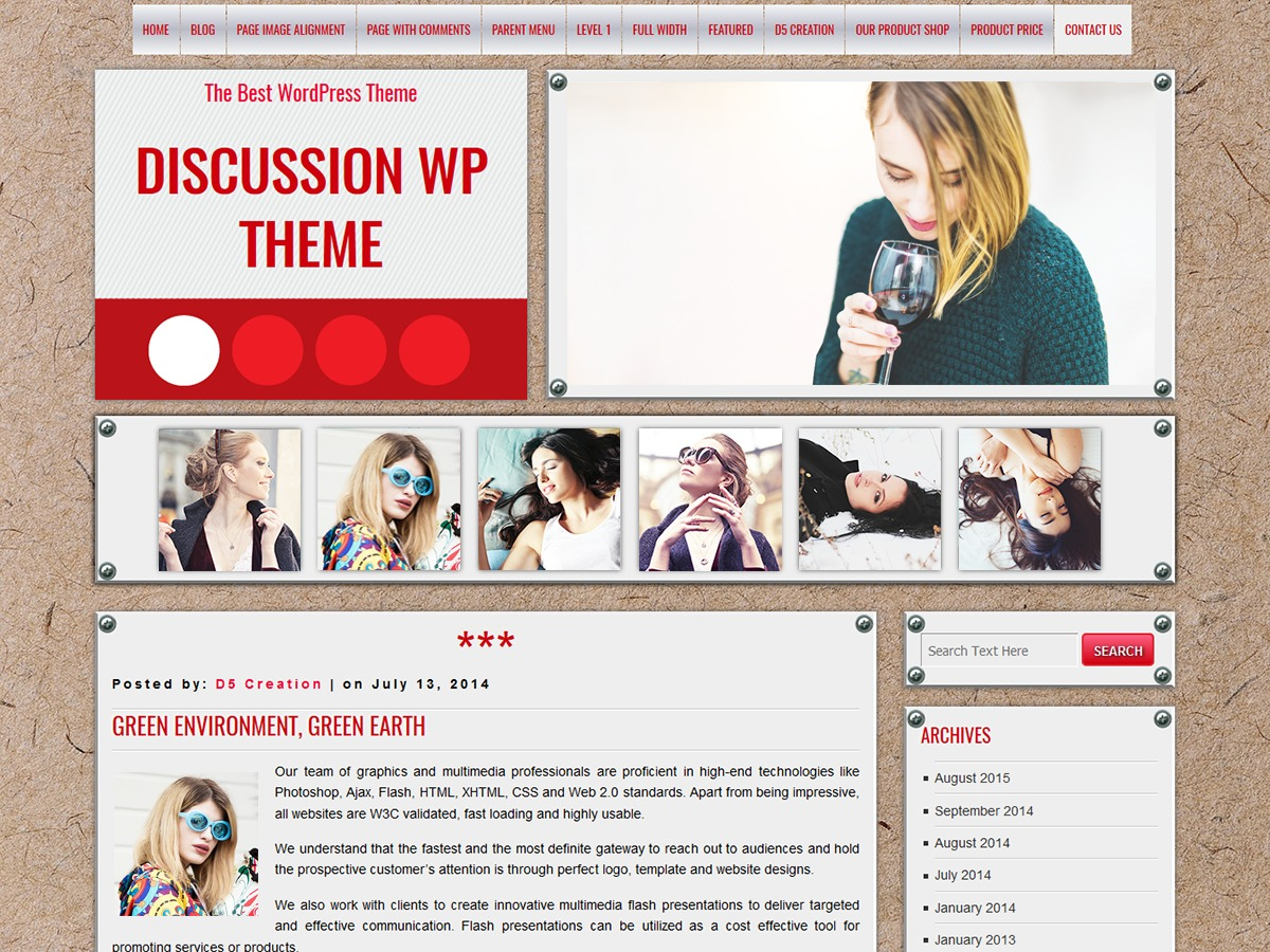 DISCUSSION free WP theme