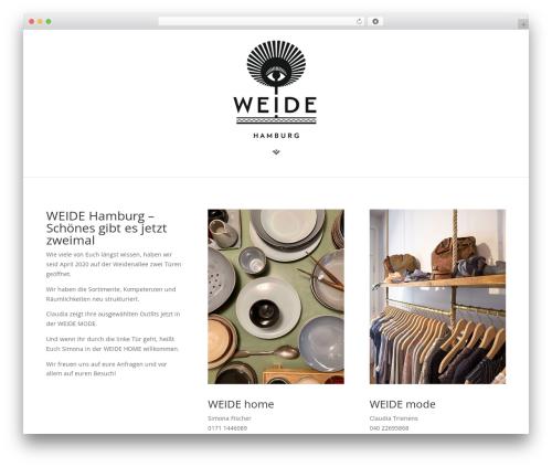 Divi WordPress page template - weide-hamburg.de