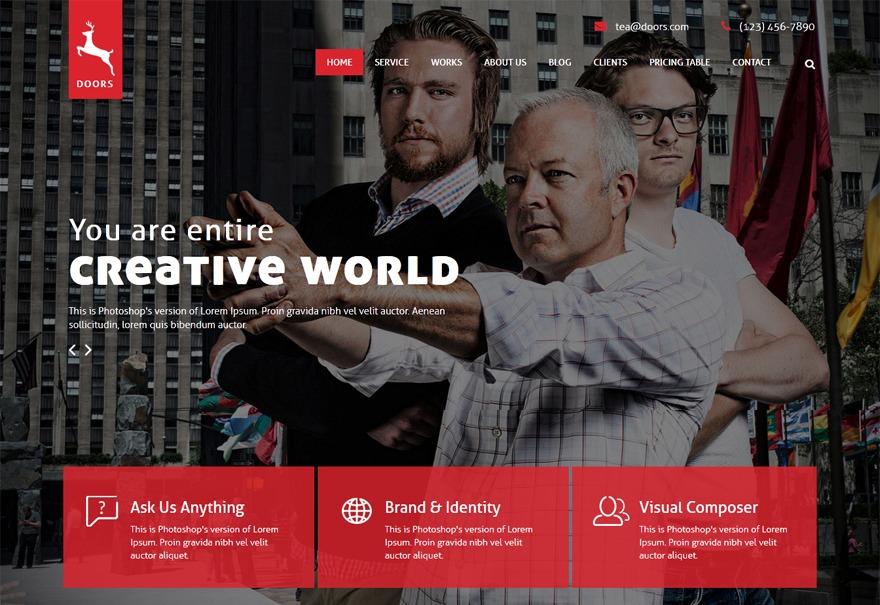 Doors WordPress website template