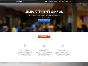 DW Page Modern WordPress theme