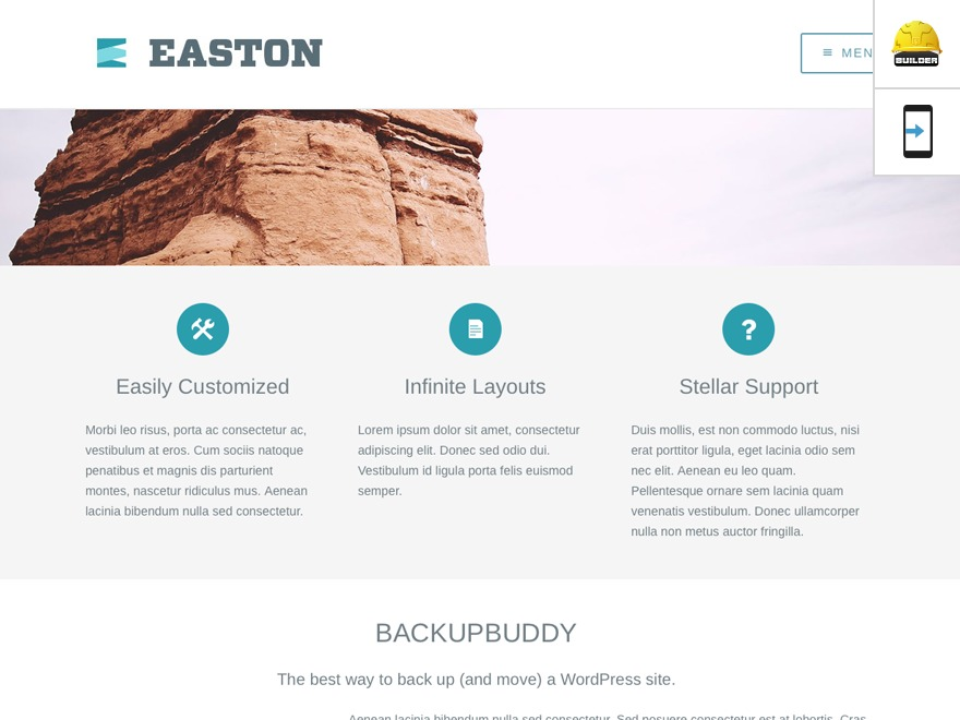 Easton WordPress website template